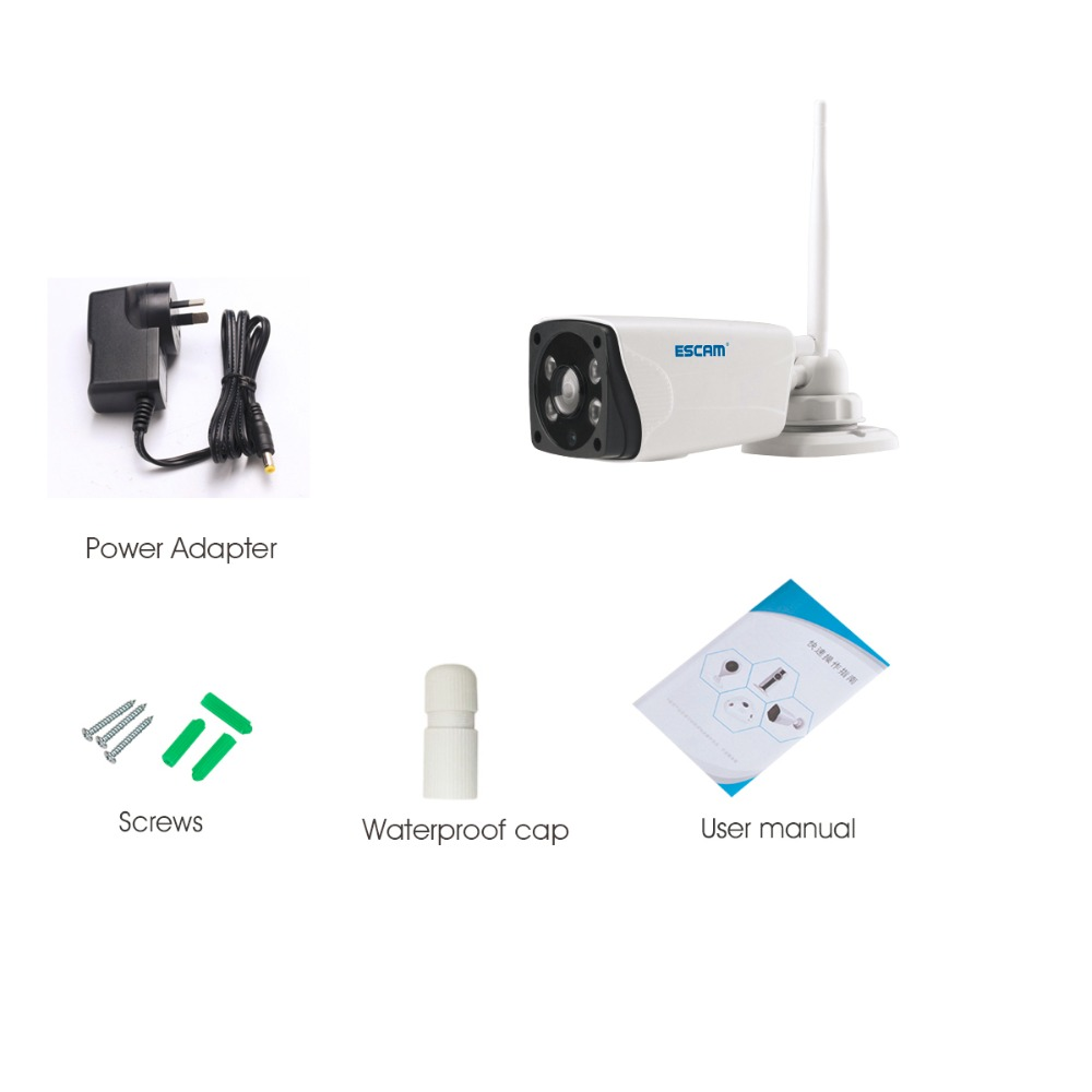 Escam Moon QP02 2MP HD 1080P WIFI Alarm Camera Outdoor Bullet IR-Cut 180 degree Security ip Camera Support Max 64G TF card (22)