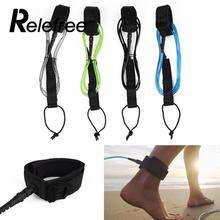 Relefree New Surfboard Leash TPU Surfing Paddle Board Straight Leg Foot Rope Strap 6ft 5.5mm Surfing Leg Foot Rope Strap Sport(China)