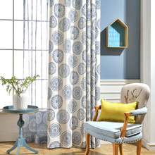 What Makes Modern Boutique Simple Plain Blue Cotton Curtain Window Screen Printing E