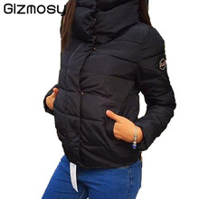 1 Pcs New 2017 Winter Coat Women Slim Female Covered Button Thicken Parka Cotton Down Jacket Clothing Student Outwear SY480