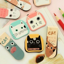 2pcs/pack kawaii Cat series magnetic Bookmark set cute students' gift prize office school supplies Escolar Papelaria Stationery