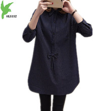 OKXGNZ Large size Women Shirt 2017 Spring New Loose Little fat sister Shirt Han Edition Cardigan Women Shirt Plus size 5XL A118
