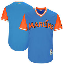 MLB Men's Miami Marlins Baseball Royal 2017 Players Weekend Authentic Team Jersey(China)