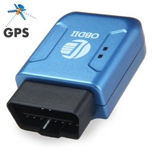 New TK206 Car GPS GPRS Tracker OBDII Interface Geo-fence Function Without OBD Function Auto Fleet Vehicle Tracking Device - Blue