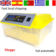 Automatic 56 Egg Incubator for Chicken quail eggs LED Display Turning Time Temperature Alarm hatchery machine Poultry Hatcher