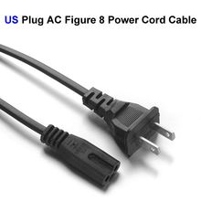 100pcs US JP Plug AC Figure 8 Power Cord Cable 1.4m For Battery Charger AC Power Adapter Laptop