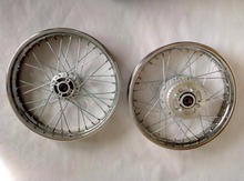 GN250 Front Rear 1.85/2.5/2.75/3/3.5x16/17/18/19 Spokes Motorcycle Wheel Rims With Brake Sprocket Hub
