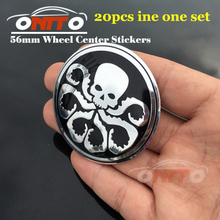 Modified 20pcs 56MM 2.20INCH for octopus/bone logo car emblem Wheel Center Hub sticker Auto accessories Car Styling(China)