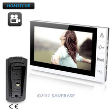 "HOMSECUR 9"" Video Door Phone Intercom System Vandal-proof 700TVL Camera Recording Monitor"