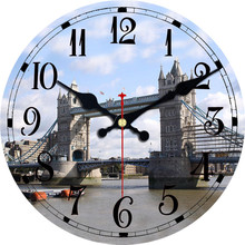 Wall Clock Modern City Scenery Design Relogio De Parede Large Silent For Living Room Wall Decor Saat Home Decoration Watch Wall