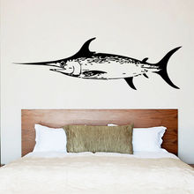 Ocean Seafood Vinyl Wall Decal Ocean Fish Mural Art Wall Sticker Sea Food Sign Restaurant Seafood Shop Window Decoration(China)