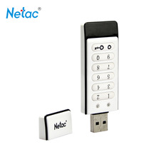 Netac Original U618 USB 2.0 Flash Drive 32GB 16GB Keypad Lock Pen AES 256-bit Hardware Off-line Encryption Memory Stick - Official Store store