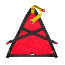 18KN Rock Climbing Rescue Belt Triangle Evacuation Harness Evacuate Patients Red for Outdoor Cave Equipment Climbing Accessories(China)
