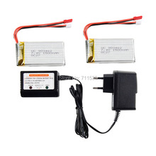 7.4V 1500Mah 25C Lipo Battery + Balance Charger Spare Parts For WLtoys V913 2.4G 4CH With Gyro RC Helicopter