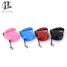 5 Piece/ Set Top Grade High Quality Germany Different Solid Color 3M/5M Extendable Retractable Length Nylon Thread Pet Leash(China)