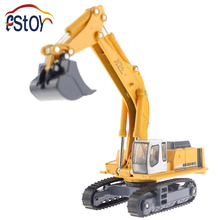 Metal Alloy Diecast Toy Excavator Truck Model R 964C Litronic Model 1:87 Capterpillar Navvy Engineering Truck Collection Toys(China)