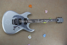 Free Shipping HOT Wholesale High quality Custom Shop EMG pick-up ESP LTD RZK-600 Silver Gray Jazz Electric Guitar 150604(China)