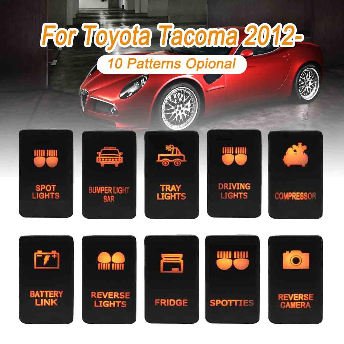 12V 3A Red LED Push Switch For Toyota Sequoia 4Runner Tacoma RAV4 ZOMBIE LIGHTS
