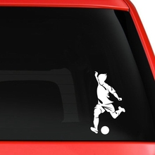 Football Player Sticker Sports Soccer Car Decal Helmets Kids Room Name Posters Vinyl Wall Decals Football Sticker(China)