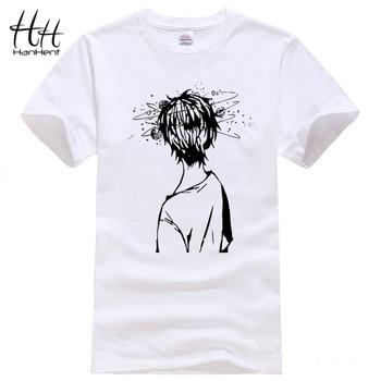 Hanhent bagunça head t camisa padrão t shirt da forma t-shirt engraçado nerd do geek impressão branco o-pescoço dos homens do estilo cool tee