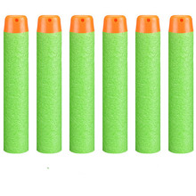 Soft Hollow Hole Head 7.2cm Refill Darts Toy Gun Bullets for Nerf Series Blasters Xmas Kid Children Gift(China)