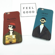 Fashion Customization Funny Cartoon Leon&Matilda Silicone&Plastic Cellphone Back Covers For iPhone7 7plus Coque Phone Shell(China)
