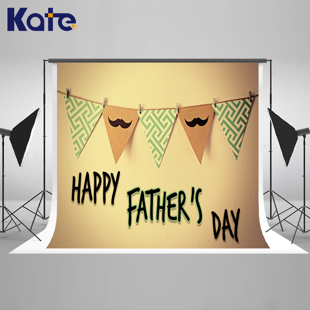 Kate Happy Fathers Day Brick Wall Photo Background Photography Backdrop Retro Flags Washable Backgrounds for Photo Studio<br>