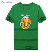 2017 Aaron Rodgers beer fashion T-shirts short sleeve o-neck for Green Bay fans gift T shirt 0922-3(China)