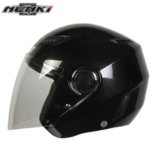 NENKI Motorcycle Open Face Helmet Street Bike Motorbike Moto Cruiser Chopper Touring Scooter Riding Helmet and Clear Lens Shield