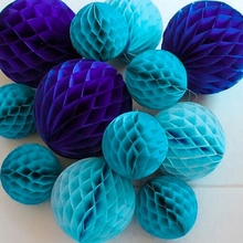 5pc 6inch(15cm) Tissue Paper Honeycomb Ball Decorations for Birthday Party Baby Shower Wedding Aniversary Home New Year Decor(China)
