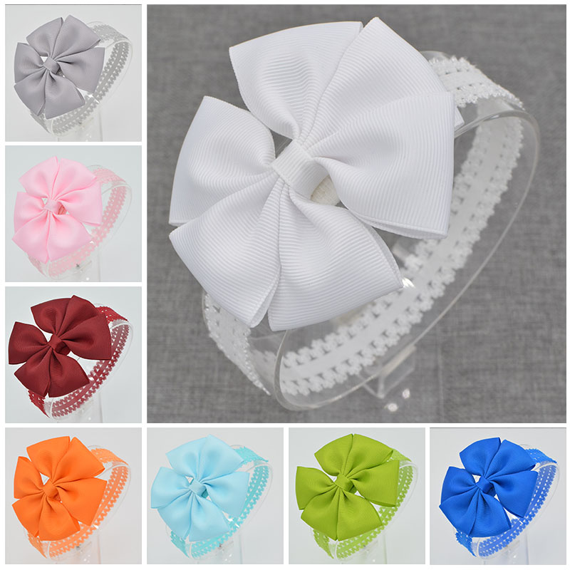 21 color Baby hair bows Handmade flower lace Headband floral newborn toddler ribbon Hair Bands DIY hair accessories children(China (Mainland))