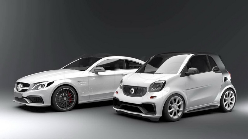 2015-2017 Smart Fortwo C453 & Forfour W453 AMG Style Body Kit FRP (7)