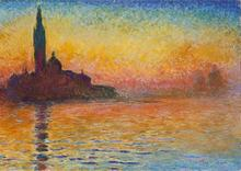 Claude Monet 1 Panel Dusk in Venice impressionist style Picture Decorative Canvas Painting Living Room Paint Wall Hanging Art