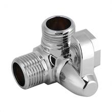 "WALFRONT 3-Way Brass Chrome Diverter G1/2"" T Shape Adapter Valve for Shower Arm Mounted(China)"