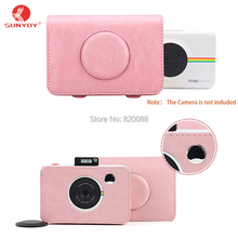 Sunyoy Vintage Pink/Purple PU Leather Case Bag for Polaroid Snap Touch Instant Print Digital Camera,Free Shipping(China)