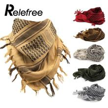 Relefree hiking Scarf Muslim Hijab Shemagh Tactical Desert Arab Scarves Men or Women Winter Windy Military Windproof Scarf(China)