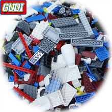 GUDI 1kg Weight Random Bricks Building Blocks City DIY Creative Educational Toys For Children designer(China)
