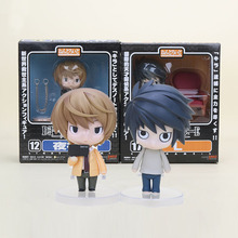 Anime Cute Nendoroid Death Note Yagami Light #12 L Lawliet #17 PVC Action Figure Collectible Model Toy(China)