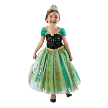 Summer New Children Dresses For Girls Elsa Dress Princess Anna Elsa Cosplay Costume Baby Kids Clothing Vestido Infantis DS40(China)