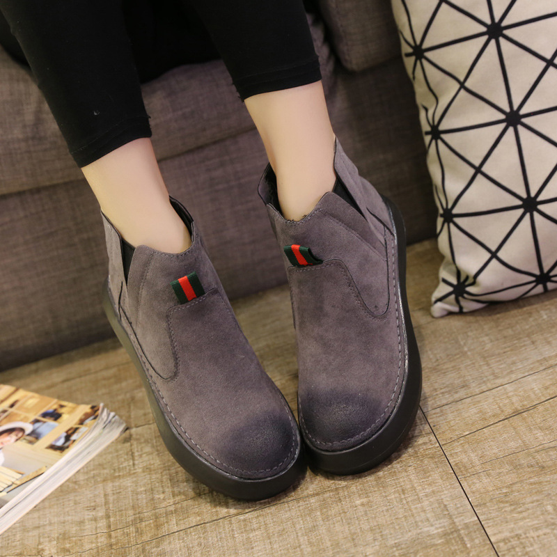 2017 Spring New Trend British Style Martin Boots Women Ankle Boots with Velvet Black Girls Winter Boots Suede Brand Women Shoes<br><br>Aliexpress