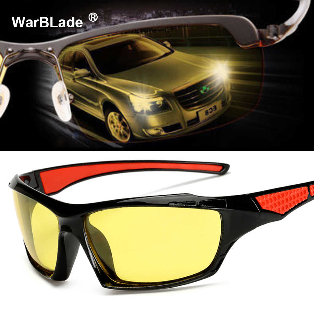 8981d77098 2018 New Yellow Polarized Sunglasses Men Night Vision Glasses Brand  Designer Women Spectacles Car Drivers Goggles