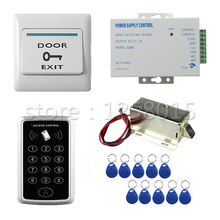 Buy DIY 125KHz RFID Black Controller Access Control Kit 1 door access control+cabinet lock+door switch+power+10 key fob for $36.00 in AliExpress store