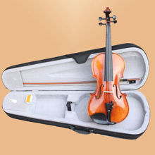 NEW PRO 4/4 Violin Stradivarius Copy Violin/Fiddle Flame Ebony W/Case FREE SHIPPING