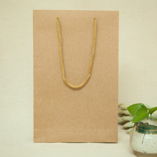 New 20*6*31cm 10pcs natural Kraft Paper bag Diy