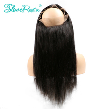 Slove Rosa 360 Lace Frontal Closure Straight Peruvian Remy Human Hair Pre Plucked Natural Hairline With Baby Hair Free Shipping