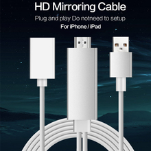 High Quality Plug and Play Lightning USB to HDMI HDTV Cable Cord Adapter Convertor with Charging Support 1080P for IOS Android