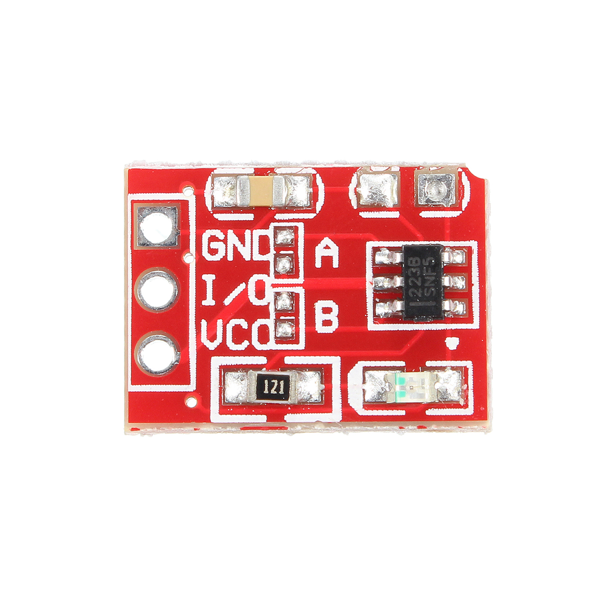 1PCS NEW TTP223 Capacitive Touch Switch Button Self-Lock Module for Arduino Electronic Components & Semiconductors