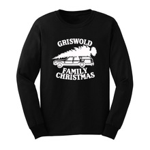 Mens Griswold Family Christmas Vacation Funny Christmas Gift Long Sleeve T-Shirts Casual Men Tee(China)