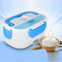 12 V Car Electric Container Heated Lunch Box Set For Adult Food Warmer Home Truck Stove Oven Convenience Blue Red Color