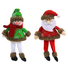 Christmas Snowman Santa Claus Red Wine Champagne Bottle Covers Bag For New Year Christmas Decorations Ornament 25(China)